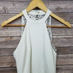 Lulu's Dresses - Lulu's White Fit and Flare Halter Skater Dress S